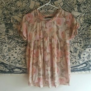 Flowy Floral Silk Top